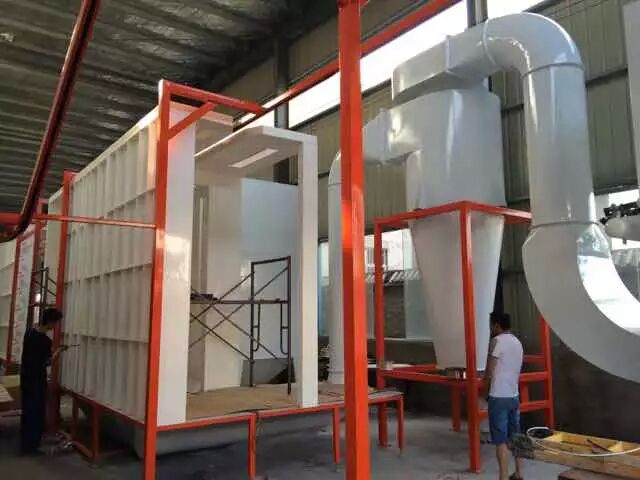 plastic powder coating booth