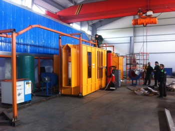 Automatic Powder Coating Line Installed in Russia
